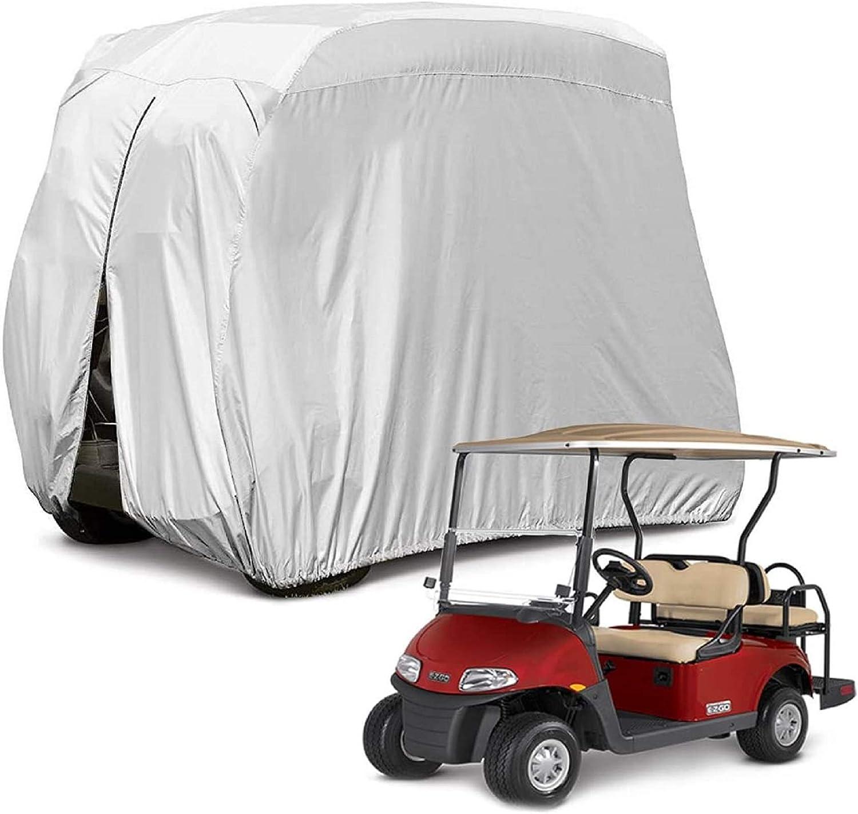 Himal 4 Passenger 400d Golfwagen Abdeckung Wasserdicht Sonnenfest 203 2 Cm L Passend Für Ez Go Club Auto Und Yamaha Staubdicht Und Langlebig Sport Freizeit