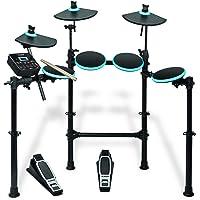 Alesis DM Lite Kit, Elektronisches Schlagzeug e-Drum Set mit 7 LED-beleuchtete Drum Pads, zusammenklappbarem Rack, MIDI USB Drum Modul mit Kopfhörer-Anschluss, Kick und Hi-Hat Pedalen und Drum Sticks