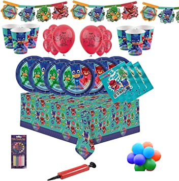 16 24 PJ Masks Party Supplies Kids Birthday Party Kit for 8 32 Party Guests