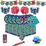 PJ Masks Party Vajilla Kit de fiesta infantil de cumpleaños para 8, 16, 24