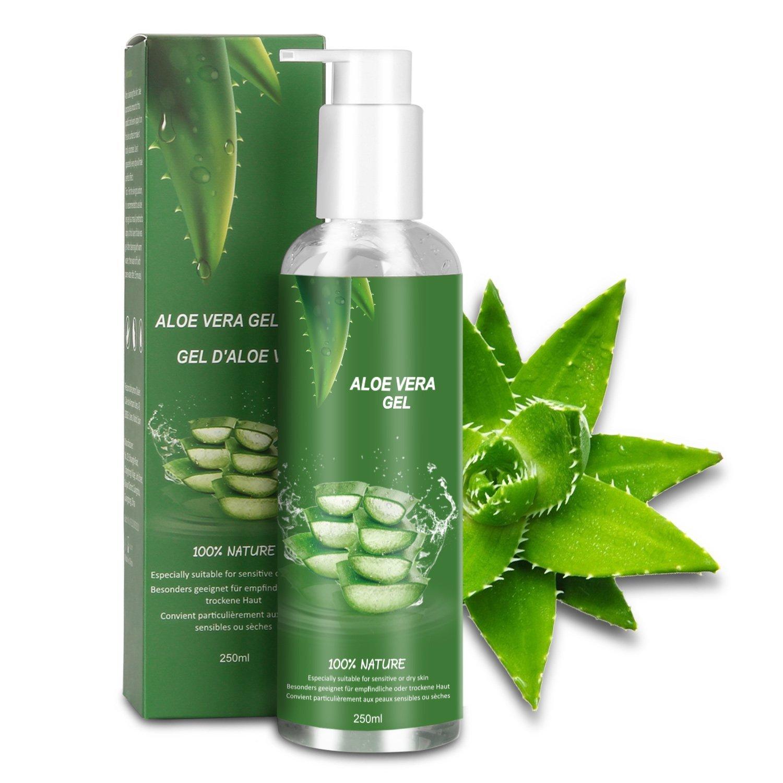 Betope Gel de Aloe Vera Pura, Aloe Vera 100 Puro Natural, Hidratante Gel Corporal y Facial, Cuidado After Sun/Calmar Después de la Depilación/Eliminar 250ml
