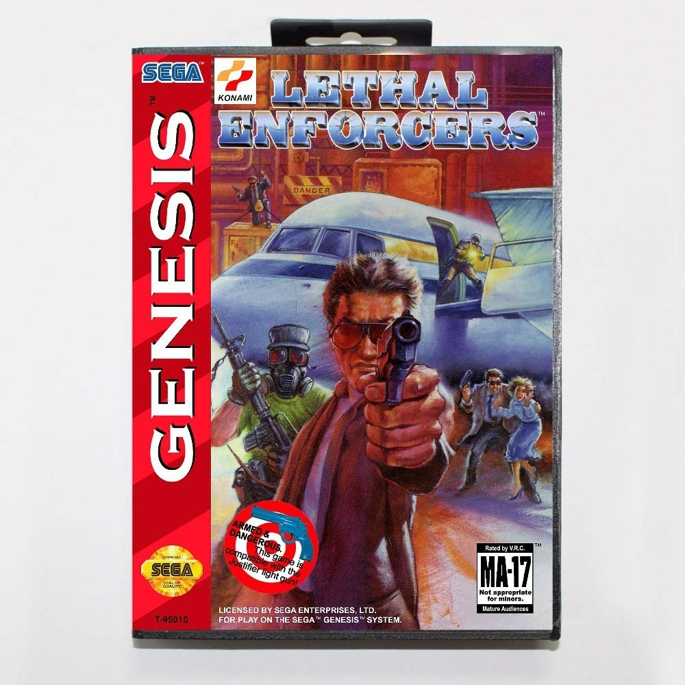 ROMGame Lethal Enforcers Game Cartridge 16 Bit Md Game Card With Retail Box For Sega Mega Drive For Genesis