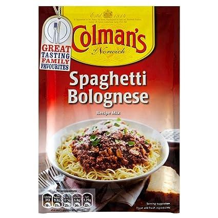 Colmans Mezcla De Salsa De Espaguetis A La Boloñesa (44g) (Paquete de 6