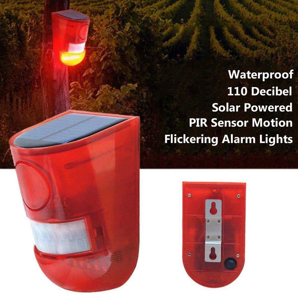 Luces estroboscópicas solares, IP65 Impermeable Sensor de ...