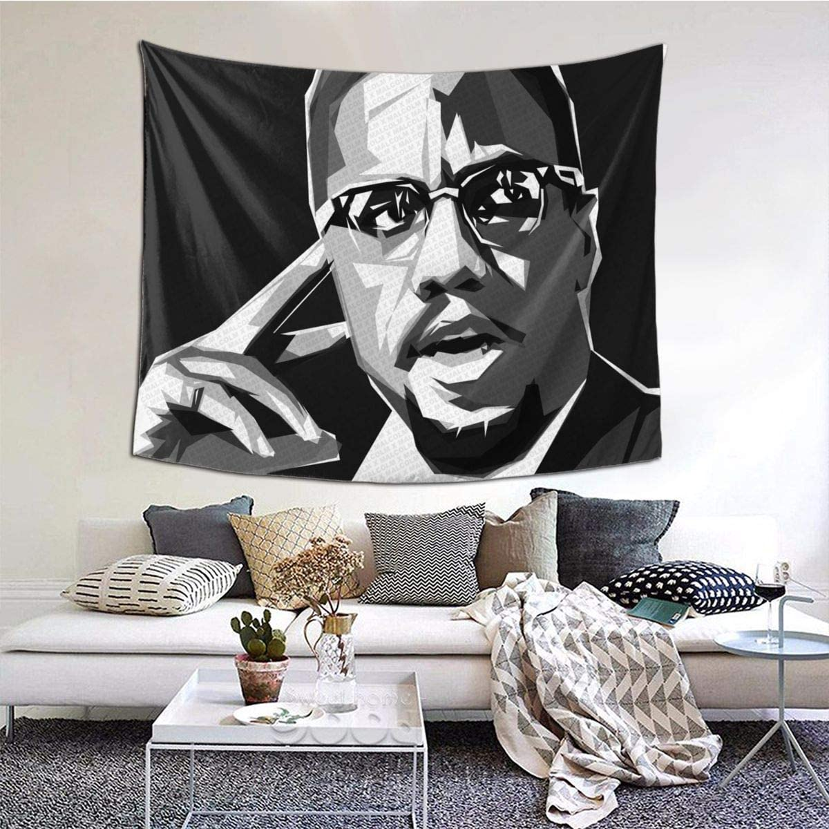 12shengxiao Malcolm X Tapestry 60×51 Inch
