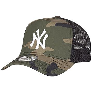 4b77402b New Era Adjustable Trucker Cap - New York Yankees wood camo - One Size