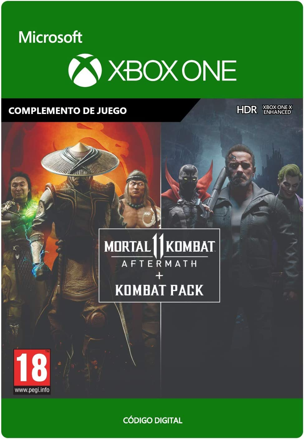 Mortal Kombat 11 Aftermath + Kombat Pack | Xbox One - Código de ...
