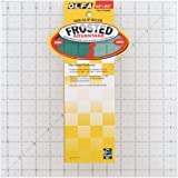 OLFA 1071818 QR-12S 12-1/2-Inch Square Frosted Advantage Acrylic Ruler