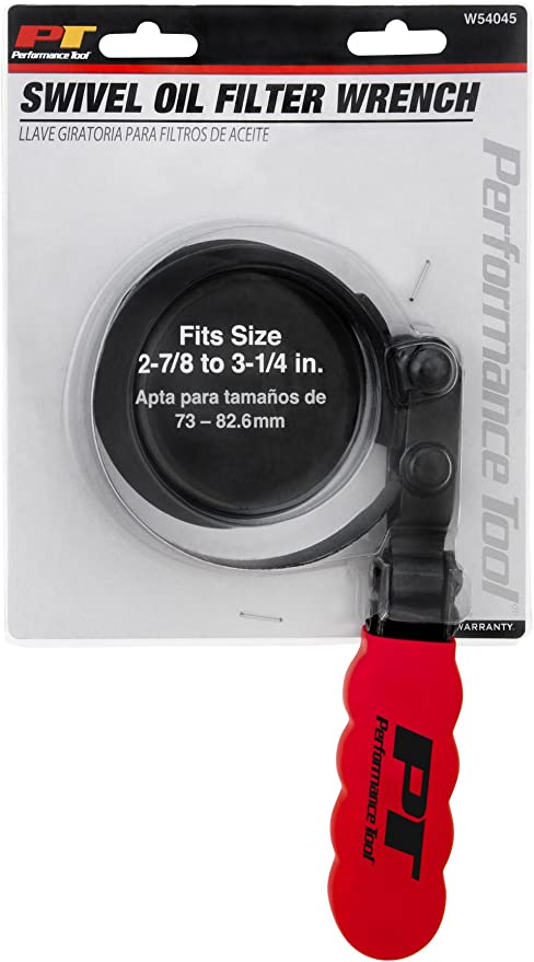 1 Pack Fits 4-1//8 in WORKPRO Oil Filter Swivel Wrench Steel Construction w//Vinyl-Coated Handle Filter Diameters, - 4-1//2 in