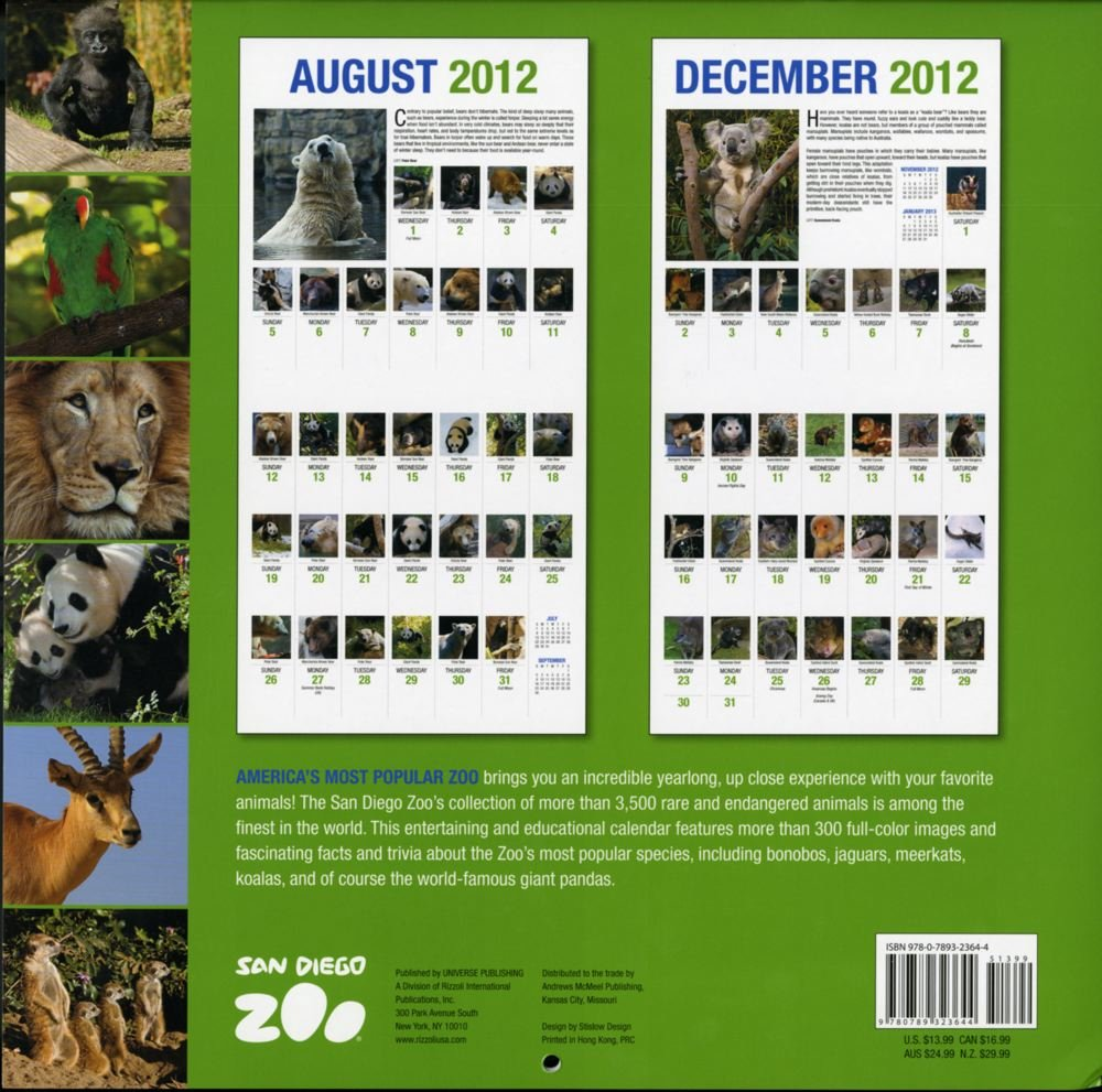 A Year At The San Diego Zoo Wall Calendar San Diego Zoo - 10 of the best most fascinating zoos in the world