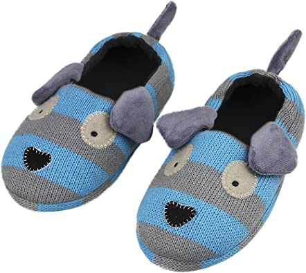 Boys Slippers Indoor Bootie Fuzzy Bunny Hard Sloes Girls Slippers Toddler