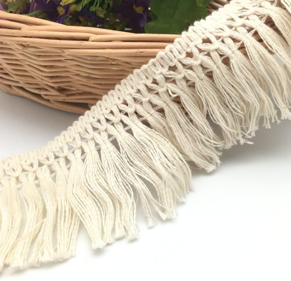 Wholesale Beige Thread Tassels 9 Yards Trim 15mm Wide Approx