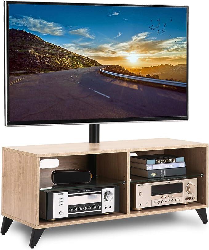 RFIVER Soporte TV de Suelo para Televisiones de 32 a 65 Pulgadas Giratorio y Altura Ajustable de Color Roble TW4001: Amazon.es: Electrónica
