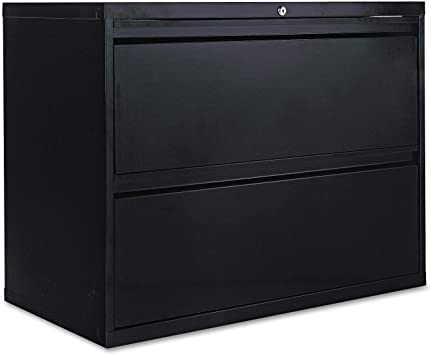 Amazon Com Alera 2 Drawer Lateral File Cabinet 36 By 19 1 4 By 29 Inch Black Furniture Decor