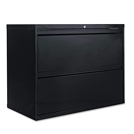 Alera 2-Drawer Lateral File Cabinet, 36 by 19-1 4 by 29-Inch, Black