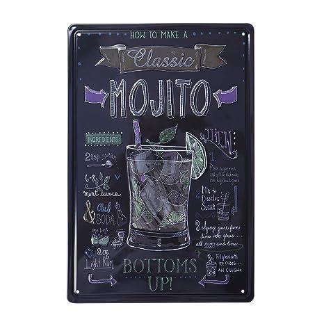 Vorcool Occident Retro Plaque Decoration Murale Pour Bar Pub Cuisine