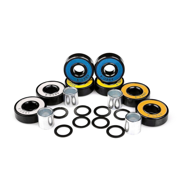 Lazinem New Chrome Steel Multicolor Skateboard Longboard Bearings Kit Sports Acc Training Gloves