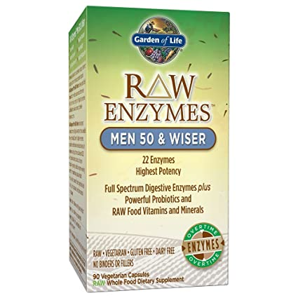 Garden of Life RAW Enzymes? Men 50 & Wiser, 90 Capsules-(2 ...