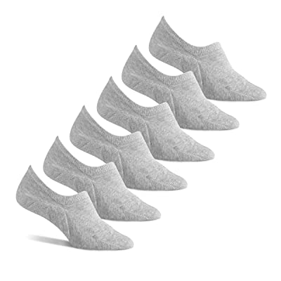 Essentials Women's 6-Pack Stay in Place Cotton Sneaker Liner Socks: Clothing