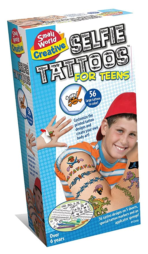 Buy Small World Toys Creative Selfie Tattoos For Teens Kit Online At Low Prices In India Amazon In