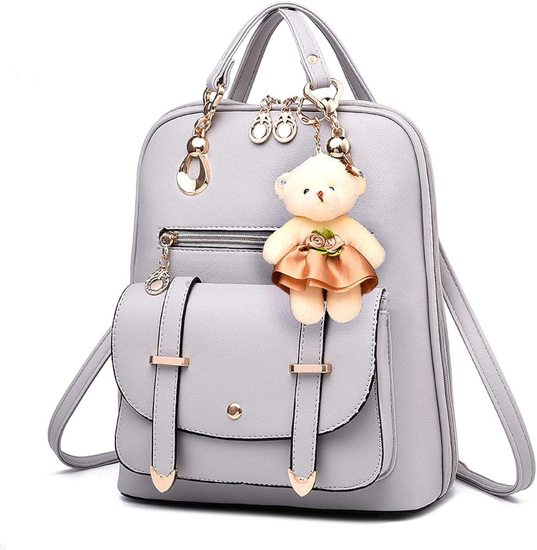 Women backpack shoulder bag women s bag students College wind bag PU leather backpack