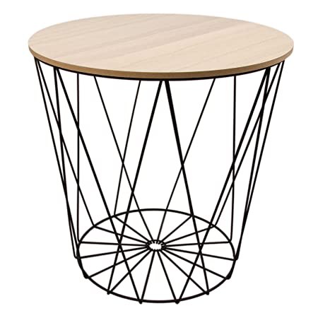 Design side table white metal wire basket with lid black 40 cm design side table white metal wire basket with lid black 40 cm black greentooth Choice Image