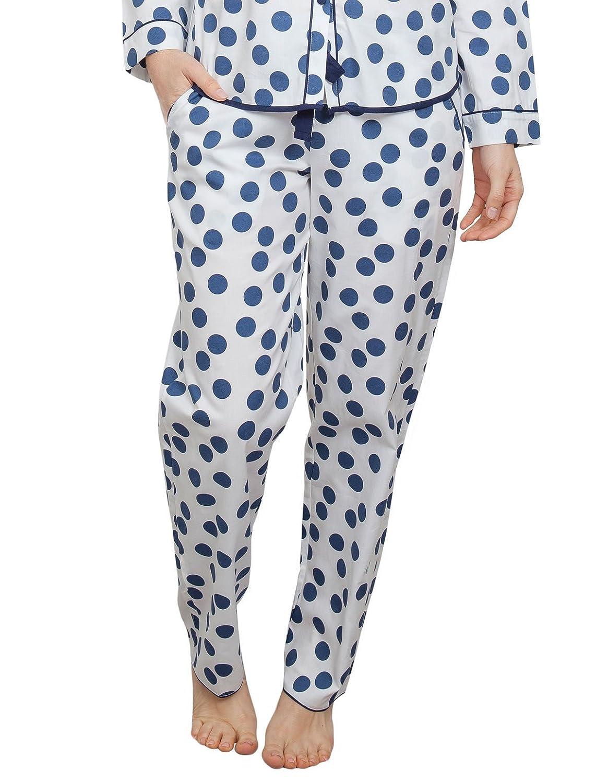 TALLA 38. Cyberjammies 3843 Women's Zoe White Spotted Pajama Pyjama Pant