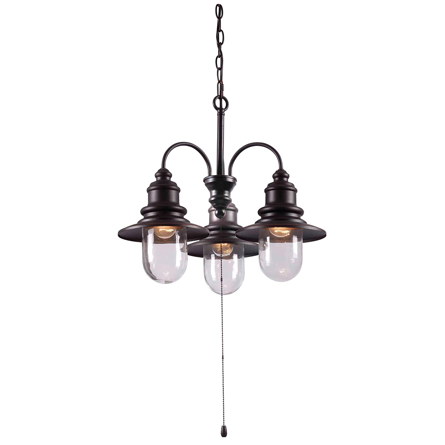 Kenroy Home ORB Broadcast 3 Light Outdoor Chandelier