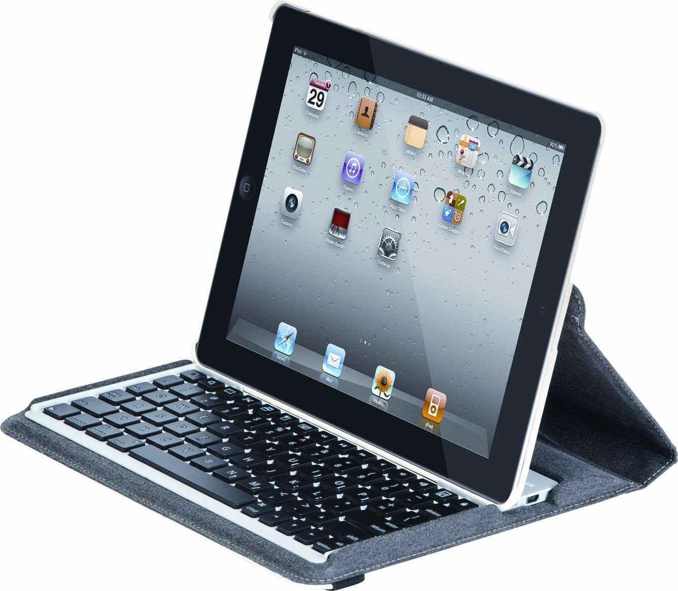 Targus Versavu Rotating Keyboard Case and Stand for iPad 3 and 4, Bone White (THZ171US) by Targus (Image #8)