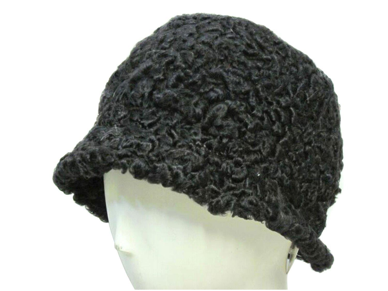 Black Persian Lamb Bucket Hat