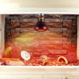 ETbotu LED Red Reptile Night Light UVA Infrared Heat Lamp Bulb for Snake Lizard Reptile Winter Warming 75w