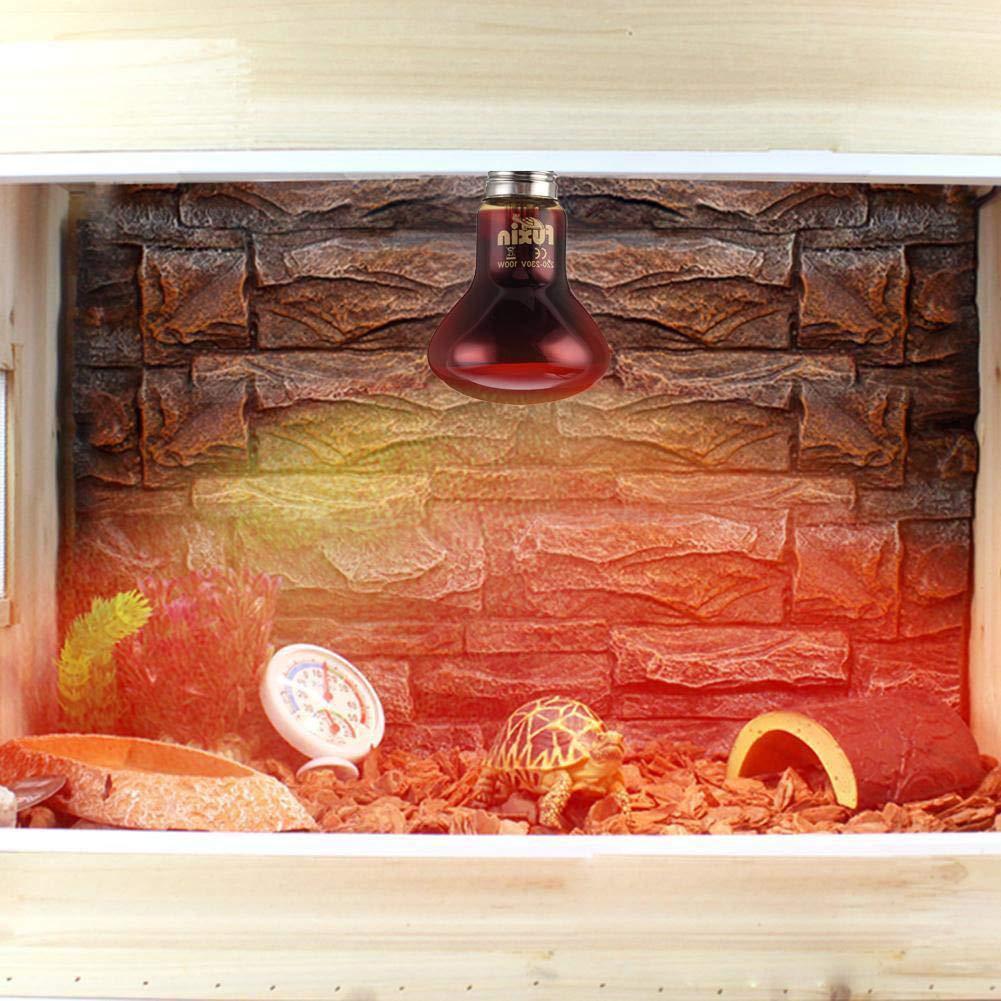 Mylujo UVA Mercury Vapor Bulb//Light//Lamp,Nightlight Red Bulb,LED Red Reptile Night Light,Source of Heat and Light for UV and Basking for Snake Lizard Reptile Amphibian 75w