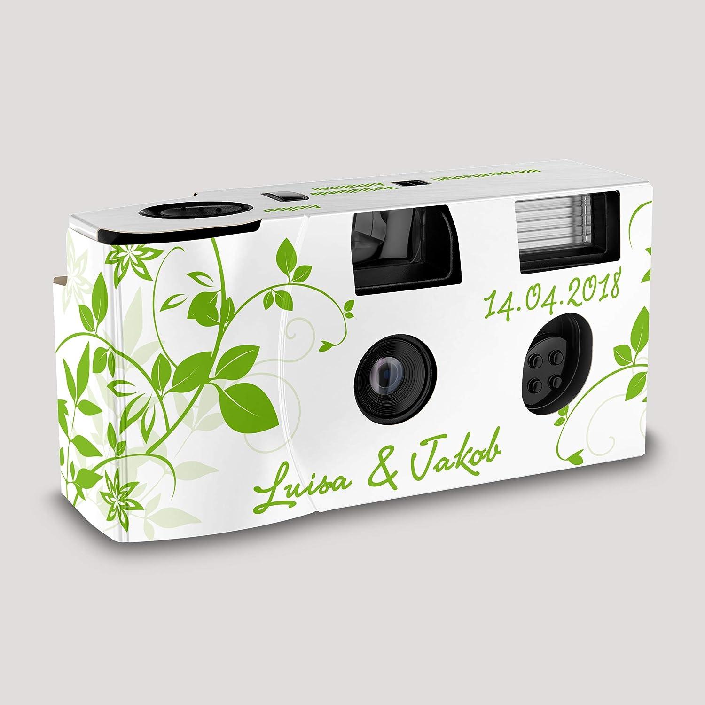 Hochzeitskamera Einwegkamera Flower Grün Mit Kamera