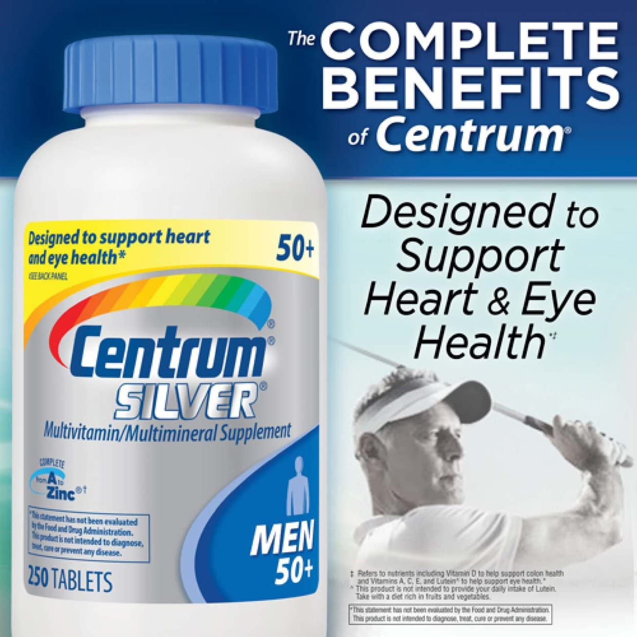 Centrum Vitamins for Men after 50, 250 Counts
