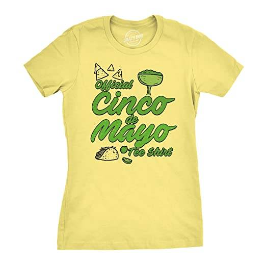 82f65a935 Womens Official Cinco de Mayo Tee Funny Taco Mexico Drinking T Shirt  (Yellow) S