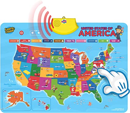 Full Interactive Map Of Usa.Amazon Com Learn Climb United States Interactive Map For Kids