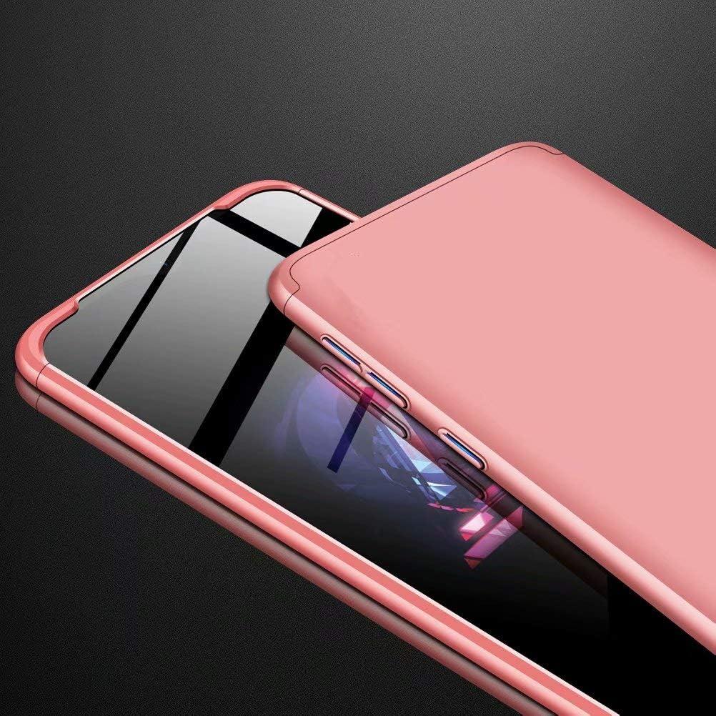 Azihone Funda Compatible Huawei P30 Lite//Nova 4E con 360/°Todo Incluido Anti-Scratch 3 en 1 Hard PC Caja Cover Resistente al Desgaste+Regalar 2*HD Vidrio Templado Carcasa Case-Negro