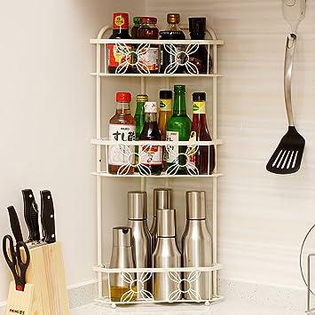 Amazon.de: Shelf LYG Küchenwagen Eckregal Regal Edelstahl Die Küche ...
