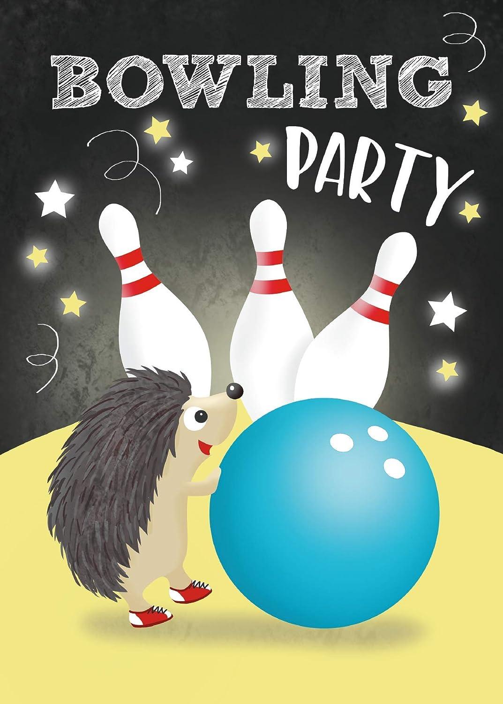 Bowling Lot De 10 Cartes Dinvitation Pour Anniversaire Denfant Inscription En Allemandbowlingparty Anniversaire 14 8 X 10 5 Cm Format Carte Postale Invitations Decorations Et Accessoires De Fetes