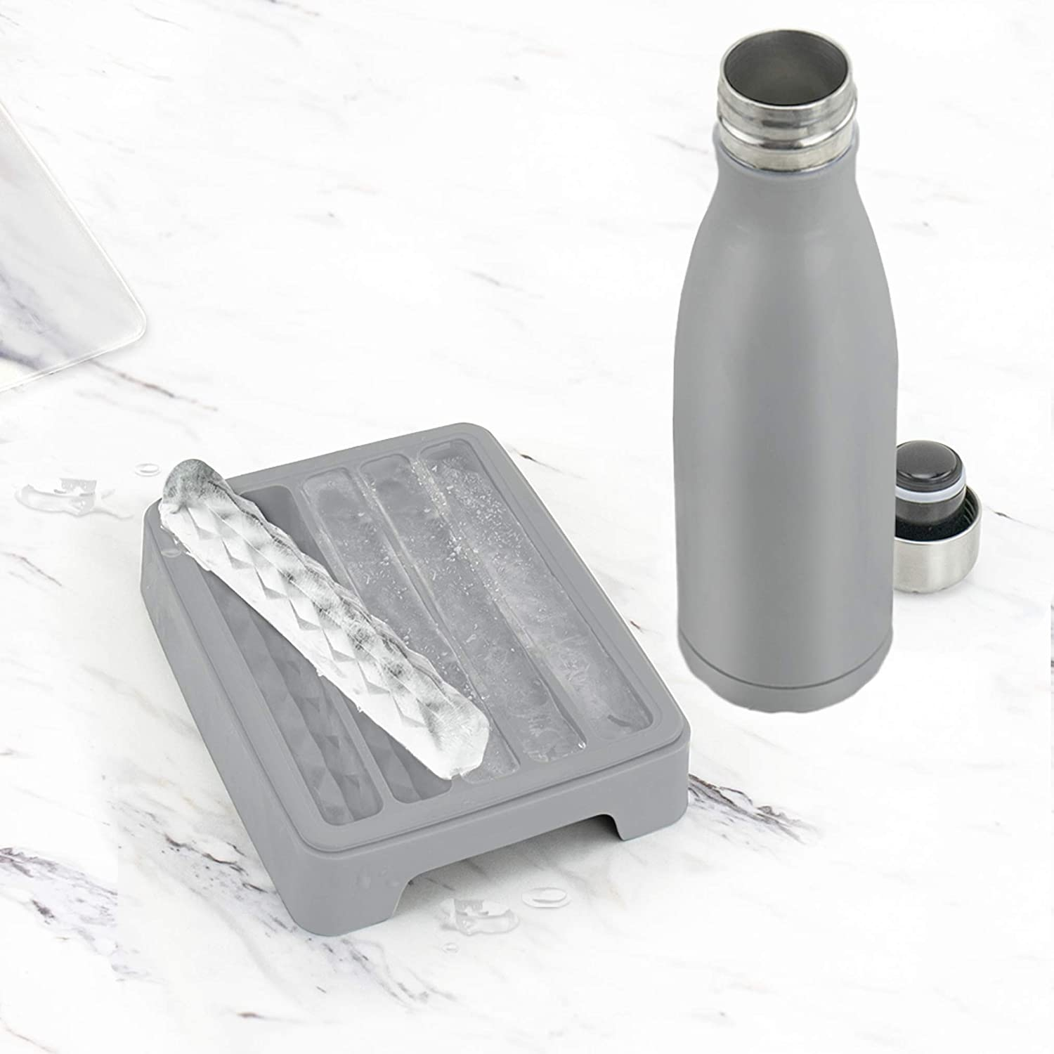 2 X WATER BOTTLE NARROW ICE STICK MAKER TRAY BPA FREE,FREE POST MOULDS