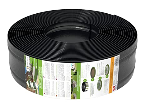 AMISPOL 25 Mètres Bordure de Gazon en Plastique 125/4 mm de Bordures de  Pelouse - Flexible Bordure de Jardin, Bordure de Pelouse Flexible, Pliable  ...