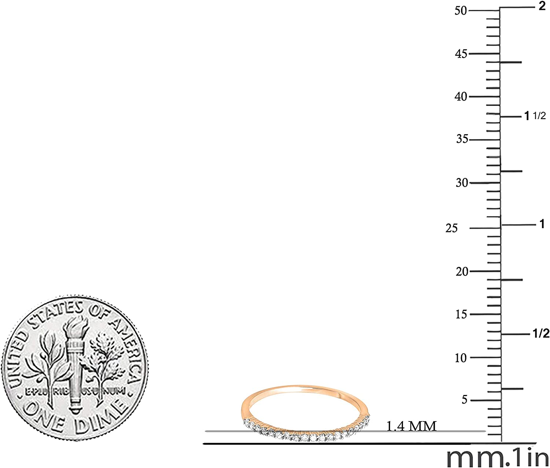 3.75 mm Piedra Set elaborado//Anillo De Bodas Anillo de la eternidad tamaño Q 925 Plata Esterlina