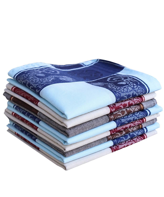 COCOUSM Men's Unique Dragon Soft 100% Cotton Handkerchiefs Hanky