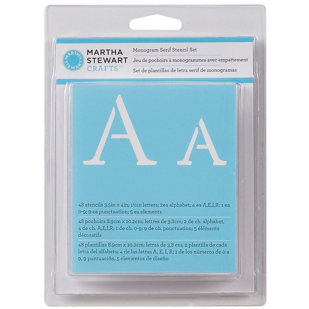Amazon martha stewart crafts alphabet stencil 32277 monogram serif spiritdancerdesigns Choice Image