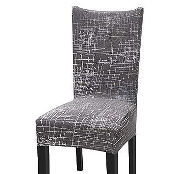 STARUBY Silla con Respaldo Funda para Asientos Forros Funda para sillas de protección elástico Lavable Fundas de Cobertura Silla para Comedor, Restaurante, ...