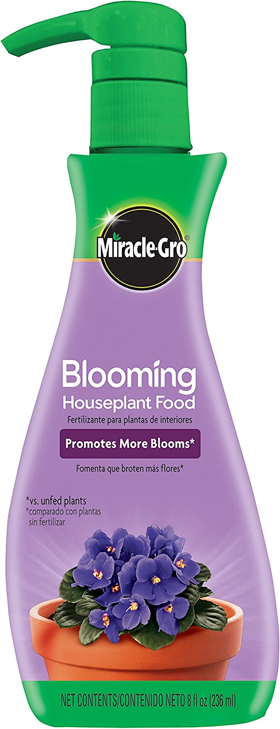 Miracle-Gro Blooming Houseplant Food, 8 oz., Plant Food Feeds All Flowering Houseplants Instantly, Including African Violets