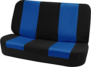FH Group FB102010 Classic Cloth Seat Covers (Blue) Rear Set – Universal Fit for Cars Trucks & SUVs