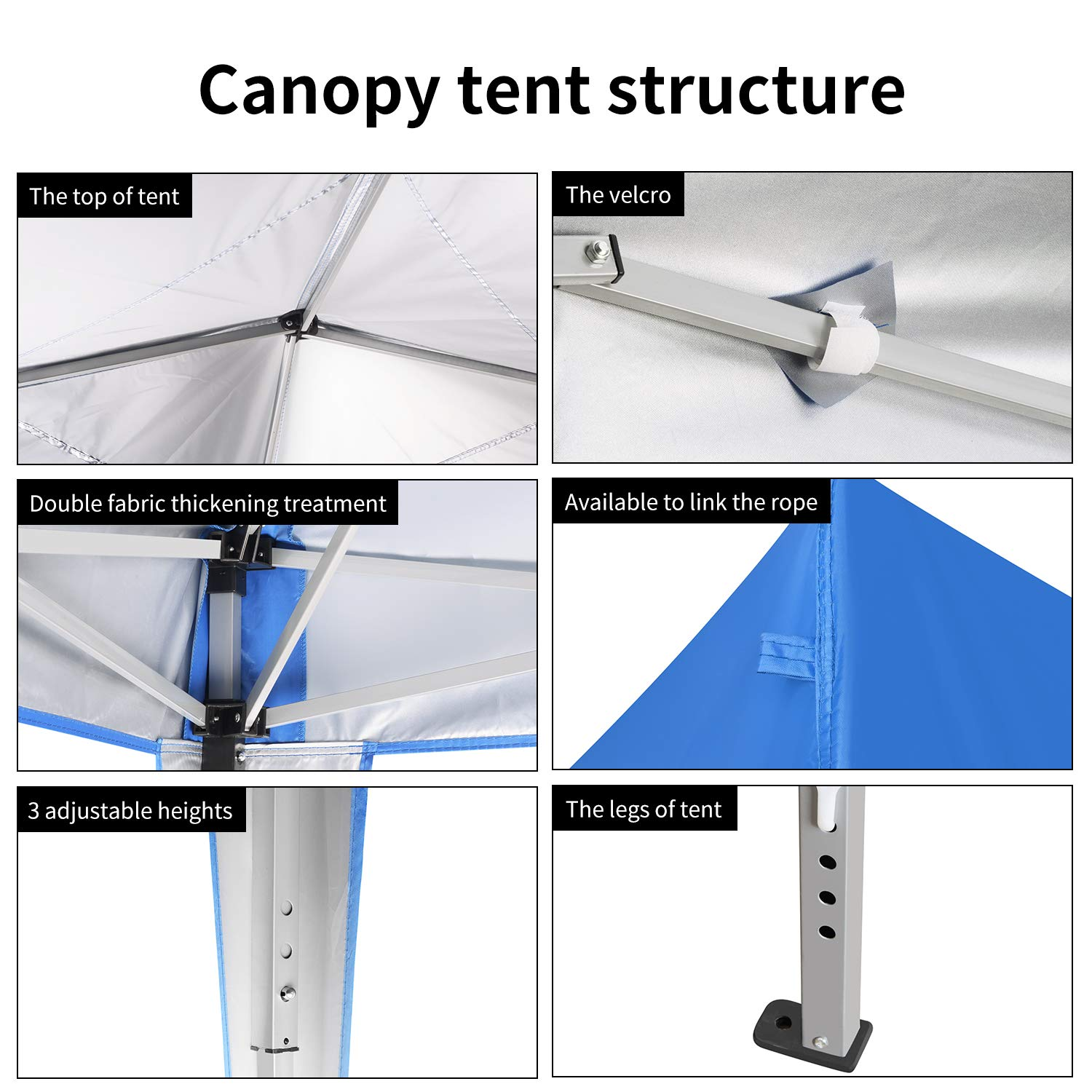 Cheap Leisurelife 10x10 Pop Up Canopy Tent With Sidewalls