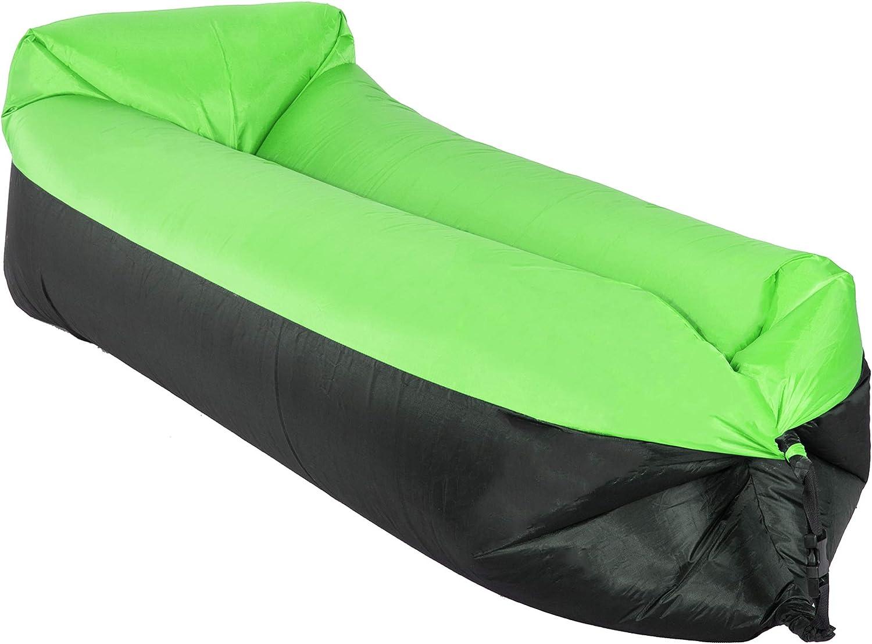 SPRINGOS - Lazy Bag - Saco de Dormir Hinchable para sofá, Camping, Playa, Piscina, Tumbona al Aire Libre y Resistente al Agua