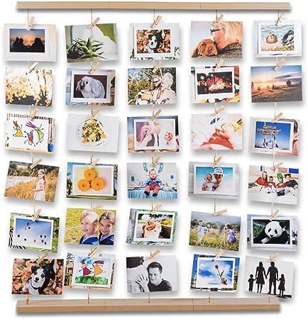 avec Corde et Porte Photo Pinces Uping Cadre Photo Mural Accroche Pele Mele Photos